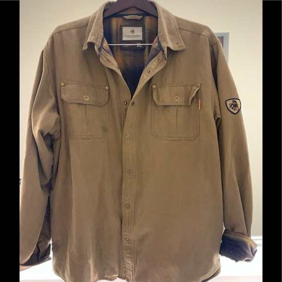 Legendary Whitetails Other - FLANNEL LINED SHIRT JACKET*SOLD*